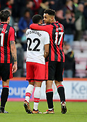 3rd December 2017, Vitality Stadium, Bournemouth, England; EPL Premier League football, Bournemouth versus Southampton; Joshua King of Bournemouth chats with Nathan Redmond of Southampton at full time