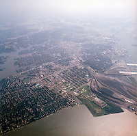 1998 September 05..Aerial..High altitude of census tracts around Elizabeth River in Portsmouth & Norfolk..Gene Woolridge.NEG# 11678 - 32.NRHA#..