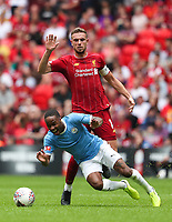 Jordan Henderson of Liverpool and Raheem Sterling of Manchester City during the FA Community Shield match between Liverpool and Manchester City at Wembley Stadium on August 4th 2019 in London, England. (Photo by John Rainford/phcimages.com)<br /> Foto PHC/Insidefoto <br /> ITALY ONLY