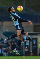 Aaron Amadi-Holloway of Wycombe Wanderers controls the ball during the Sky Bet League 2 match between Wycombe Wanderers and Crawley Town at Adams Park, High Wycombe, England on 28 December 2015. Photo by Andy Rowland / PRiME Media Images