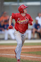 St. Louis Cardinals Bryce Denton (32) during a Minor League Spring Training game against the Houston Astros on March 27, 2018 at the Roger Dean Stadium Complex in Jupiter, Florida.  (Mike Janes/Four Seam Images)