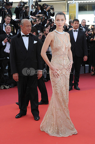 Fawaz Gruosi and Model Bella Hadid  at &quot;Cafe Society&quot; &amp; Opening Gala arrivals - The 69th Annual Cannes Film Festival, France on May 11, 2016.<br /> CAP/LAF<br /> &copy;Lafitte/Capital Pictures /MediaPunch ***NORTH AND SOUTH AMERICA SALES ONLY***