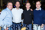 Timmy, James, Gary and Paul Donnelly enjoying the Kingdom Greyhound track on Friday night.