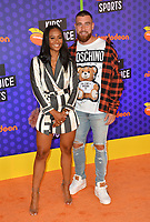 Travis Kelce & Kayla Nicole at the Nickelodeon Kids' Choice Sports Awards 2018 at Barker Hangar, Santa Monica, USA 19 July 2018<br /> Picture: Paul Smith/Featureflash/SilverHub 0208 004 5359 sales@silverhubmedia.com