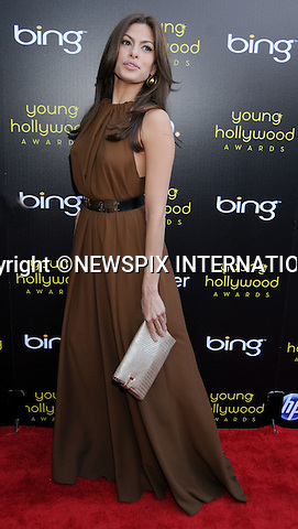 "Eva Mendes .arrives at the 2011 Young Hollywood Awards at Club Nokia on May 20, 2011 in Los Angeles, California..Mandatory Photo Credit: ©Crosby/Newspix International..**ALL FEES PAYABLE TO: ""NEWSPIX INTERNATIONAL""**..PHOTO CREDIT MANDATORY!!: NEWSPIX INTERNATIONAL(Failure to credit will incur a surcharge of 100% of reproduction fees)..IMMEDIATE CONFIRMATION OF USAGE REQUIRED:.Newspix International, 31 Chinnery Hill, Bishop's Stortford, ENGLAND CM23 3PS.Tel:+441279 324672  ; Fax: +441279656877.Mobile:  0777568 1153.e-mail: info@newspixinternational.co.uk"
