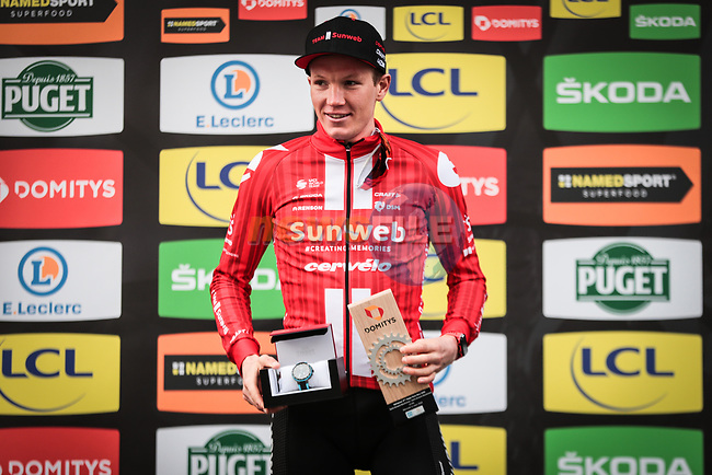 Soren Kragh Andersen (DEN) Team Sunweb wins Stage 4 of the 78th edition of Paris-Nice 2020, and individual time trial running 15.1km around Saint-Amand-Montrond, France. 11th March 2020.<br /> Picture: ASO/Fabien Boukla | Cyclefile<br /> All photos usage must carry mandatory copyright credit (© Cyclefile | ASO/Fabien Boukla)