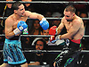 Danny Garcia, left, battles Brooklyn native Paulie Malignaggi in the main event during a 12-round Premier Boxing Champions match at the Barclays Center on Saturday, August 1, 2015. Garcia won the bout by TKO in the ninth round.<br />