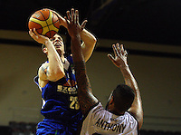 Saints import Eric Devendorf lays a shot up during the National Basketball League match between the Wellington Saints and Harbour Heat at TSB Bank Arena, Wellington, New Zealand on Thursday, 29 April 2010. Photo: Dave Lintott / lintottphoto.co.nz