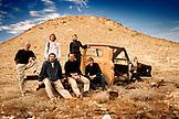 MEXICO, Baja, Magdalena Bay, Pacific Ocean, group shot in the desert near Magdalena Bay