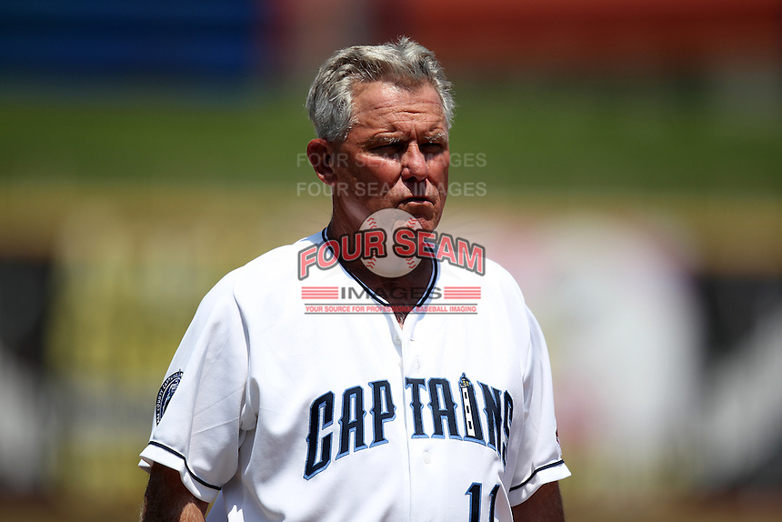 Lake County Captains manager Ted Kubiak #11 during the first game of a double header against the West Michigan Whitecaps at Classic Park on May 30, 2011 in Eastlake, Ohio.  West Michigan defeated Lake County 5-0.  Photo By Mike Janes/Four Seam Images