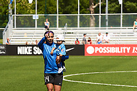 Kansas City, MO - Saturday May 13, 2017:  FC Kansas City  Sydney Leroux during a regular season National Women's Soccer League (NWSL) match between FC Kansas City and the Portland Thorns FC at Children's Mercy Victory Field.
