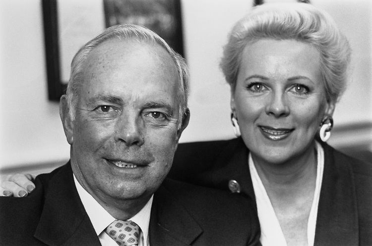 Rep. Norman F. Lent, R-N.Y. and wife Barbara Morris Lent after announcing his retirement from Congress on June 23, 1992.(Photo by Maureen Keating/CQ Roll Call)