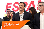 The leader of Ciudadanos, Albert Rivera, is seen with members of Ciudadanos after his press conference during the 10N election night where the party followed election results on November 10, 2019 in Madrid, Spain.(ALTERPHOTOS/ItahisaHernandez)