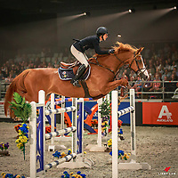 AUS-Gabrielle Kuna rides Flaire during the Harrison Lane Equitana New Zealand Open Grand Prix Jumping. 2017 NZL-Equitana Auckland. ASB Showgrounds. Friday 24 November. Copyright Photo: Libby Law Photography