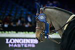 Horse Dieudonne de Guidenboom is the winner at the Prize Giving Ceremony at the end of Table A Against the Clock during the Longines Masters of Hong Kong on 19 February 2016 at the Asia World Expo in Hong Kong, China. Photo by Juan Manuel Serrano / Power Sport Images
