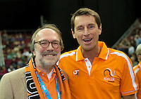 Moskou, Russia, Februari 7, 2016,  Fed Cup Russia-Netherlands, Paul Haarhuis with the Amassador<br /> Photo: Tennisimages/Henk Koster