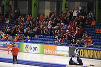 SCHAATSEN: HEERENVEEN: IJsstadion Thialf, 12-02-15, World Single Distances Speed Skating Championships, Noorse supporters, ©foto Martin de Jong