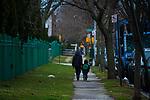 The morning walk to school in Flatbush, Brooklyn.