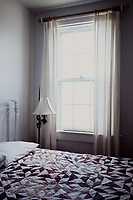 Nostalgic bedroom in Rose Island Light house, Rhode Island.