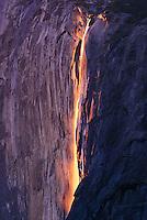 Horsetail Falls at sunset, Yosemite National Park, CA