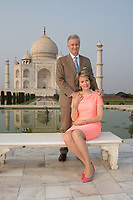 King Philippe & Queen Mathilde of Belgium on a State Visit to India visit the Taj Mahal  - India