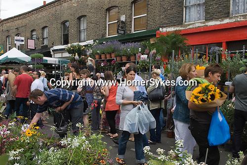 Columbia Road Sunday Flower Market East London Uk