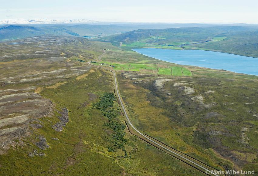 Auðnukot séð til suðurs, Svínavatn í bakgrunni, Húnavatnshreppur áður Svínavatnshreppur /  Audnukot viewing south, lake Svinavatn in background, Hunavatnshreppur former Svinavatnshreppur.