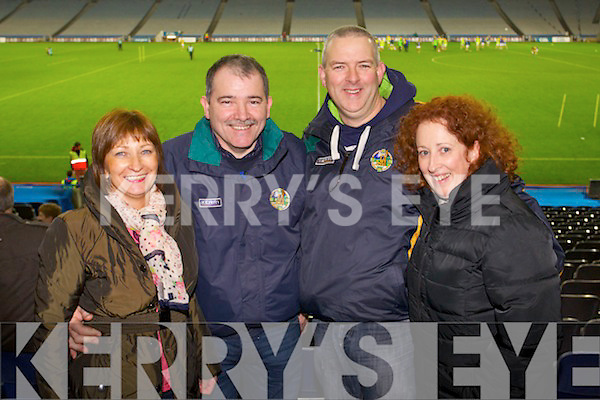 Finuge fans pictured in Croke Park on Saturday were l-r: Christina Buckley, Steven Buckley, Ciaran Sheehy and Denise Sheehy .