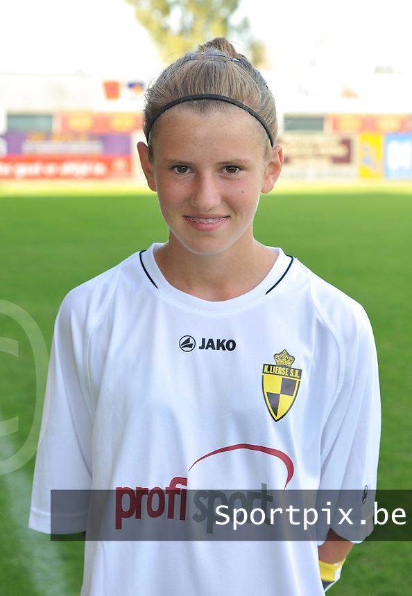 WD Lierse SK B : Chloe Van Mingeroet.foto Joke Vuylsteke / Vrouwenteam.be