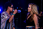 Stan Z and Elia Esparza rock the Titl's Vodka Paso Del Norte Satage Day Two the Neon Desert Music Festival, May 28, 2017 El Paso Texas