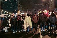 Profughi di guerra e richiedenti asilo politico sudanesi, eritrei e somali, in marcia verso il centro. Milano, 28 dicembre, 2005<br /> <br /> Sudanese, Somali and Eritrean war refugees and asylum seekers march to the city center. Milan, December 28, 2005