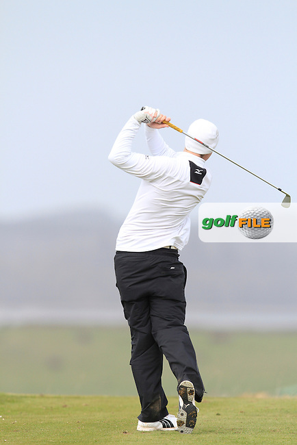 Gavin Young (Birr) during the 36 hole stroke play qualifying on April 3rd 2015 for the 2015 West of Ireland Open Championship, Co. Sligo, Golf Club, Rosses Point, Sligo, Ireland.<br /> Picture: Thos Caffrey / Golffile