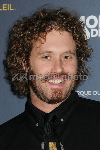 "9 December 2015 - Los Angeles, California - TJ Miller. Opening Night of ""Kurios"" from Cirque du Soleil held at Dodgers Stadium. Photo Credit: Byron Purvis/AdMedia"