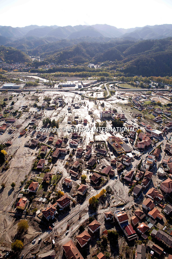 """*** EXCLUSIVE! _ Must Telephone: +441279 324672 To Agree Fees Prior To Use ***.MUDSLIDES AND FLOODING RAVAGE SCENIE ITALIAN RIVIERA.Mud, uprooted trees and debris are washed up against the houses in Brugnato, Italy_26/10/2011.Mandatory Credit Photo: ©NEWSPIX INTERNATIONAL..**ALL FEES PAYABLE TO: """"NEWSPIX INTERNATIONAL""""**..IMMEDIATE CONFIRMATION OF USAGE REQUIRED:.Newspix International, 31 Chinnery Hill, Bishop's Stortford, ENGLAND CM23 3PS.Tel:+441279 324672  ; Fax: +441279656877.Mobile:  07775681153.e-mail: info@newspixinternational.co.uk"""