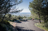 John Degenkolb (DEU/Trek-Segafredo) up the Puig de Randa<br /> <br /> Team Trek-Segafredo Training Camp <br /> january 2017, Mallorca/Spain
