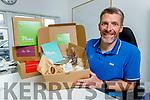 Oliver Kirwan displays his Box of Smiles called Keep Killarney smiling, Keep Kenmare smiling.