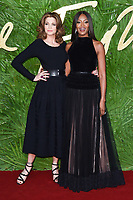 Stephanie Seymour &amp; Naomi Campbell at the British Fashion Awards 2017 at the Royal Albert Hall, London, UK. <br /> 04 December  2017<br /> Picture: Steve Vas/Featureflash/SilverHub 0208 004 5359 sales@silverhubmedia.com