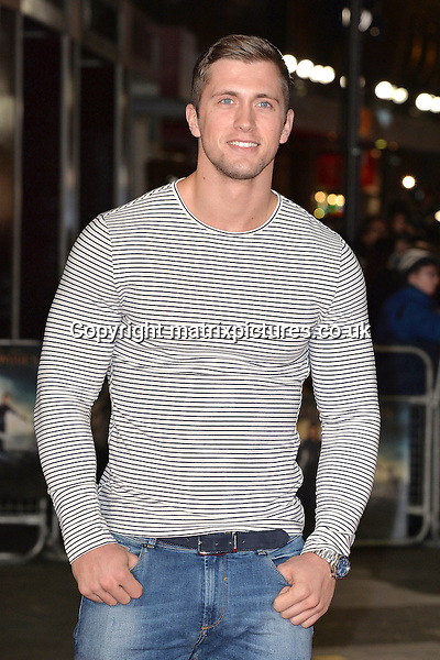 NON EXCLUSIVE PICTURE: MATRIXPICTURES.CO.UK<br /> PLEASE CREDIT ALL USES<br /> <br /> WORLD RIGHTS<br /> <br /> TOWIE star Dan Osborne attending the Pride And Prejudice And Zombies European Film Premiere, at Vue West End cinema in London.<br /> <br /> FEBRUARY 1st 2016<br /> <br /> REF: JWN 16273