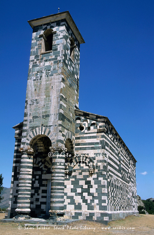 San Michele church in Murato, Corsica, France.