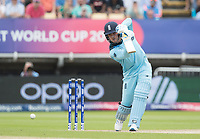 Jason Roy (England) drives through extra cover during Australia vs England, ICC World Cup Semi-Final Cricket at Edgbaston Stadium on 11th July 2019