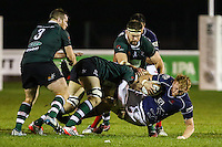 Match action during the Greene King IPA Championship match between London Scottish Football Club and Nottingham Rugby at Richmond Athletic Ground, Richmond, United Kingdom on 16 October 2015. Photo by David Horn.