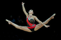 September 22, 2011; Montpellier, France;  EVGENIYA KANAEVA of Russia performs with clubs at 2011 World Championships.