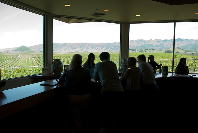 California, San Luis Obispo County: Wine country, Edna Valley Vineyard, tasting room..Photo caluis117-70744..Photo copyright Lee Foster, www.fostertravel.com, 510-549-2202, lee@fostertravel.com