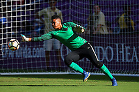 Orlando, FL - Saturday October 14, 2017: Adrianna Franch  during the NWSL Championship match between the North Carolina Courage and the Portland Thorns FC at Orlando City Stadium.
