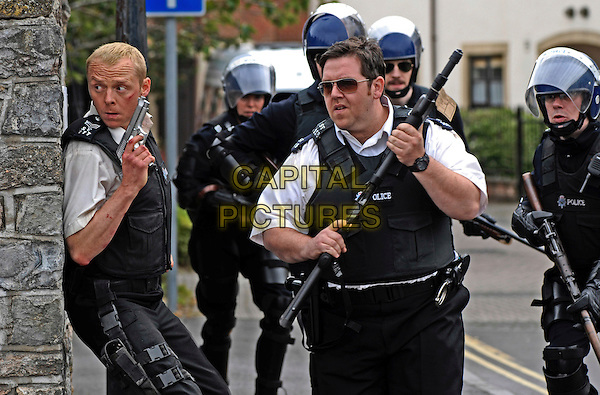 SIMON PEGG & NICK FROST.in Hot Fuzz .**Editorial Use Only**.CAP/FB.Supplied by Capital Pictures