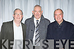 Delegates at the County Board Meeting on Monday night, from left: Jim Moriarty (Fossa GAA Club), Mick Flavin (North Kerry Football Board), Dermot Griffin (East Kerry Board).