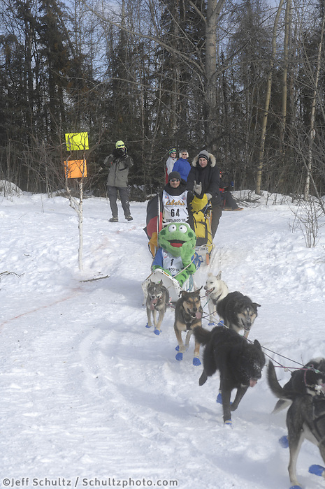 Benedikt Beisch Anchorage Start Iditarod 2008.