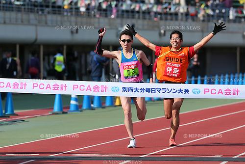 Shinya Wada, <br /> FEBRUARY 7, 2016 - Marathon : <br /> The 65th Beppu Oita Mainichi Marathon<br /> in Oita, Japan. <br /> (Photo by Yohei Osada/AFLO SPORT)