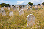 Graves in graveyard of Saint George church, Isle of Portland, Dorset, England, UK