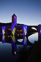 Europe/Europe/France/Midi-Pyrénées/46/Lot/ Cahors: Iluminations du Pont Valentré